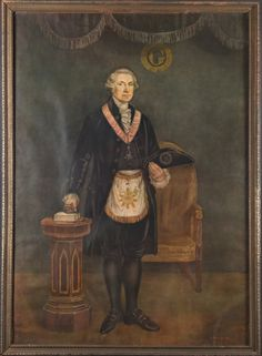 George Washington, Freemason President, Hattie Burdett, 1932, Property of the George Washington Masonic National Memorial